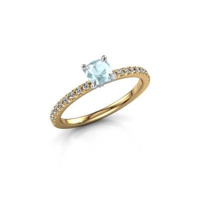 Verlobungsring Crystal CUS 2 585 Gold Aquamarin 5 mm