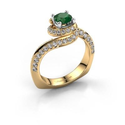 Engagement ring Sienna 585 gold emerald 5 mm