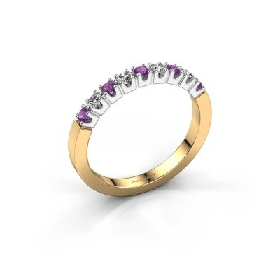 Picture of Engagement ring Dana 9 585 gold amethyst 2 mm