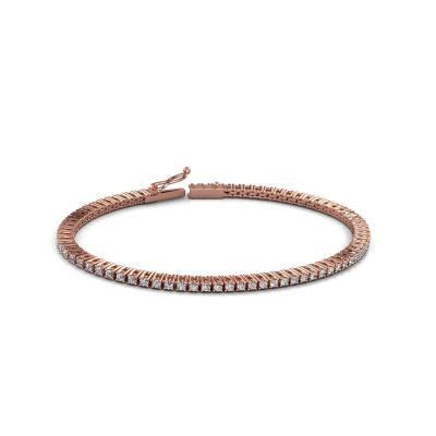 Tennisarmband Karin 2 mm 375 rosé goud diamant 2.16 crt