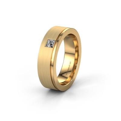 Trouwring WH0550L16CMP 585 goud diamant ±6x2.2 mm