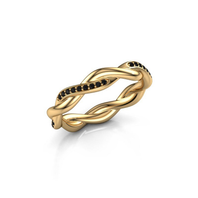 Aanschuifring Swing half 375 goud zwarte diamant 0.216 crt