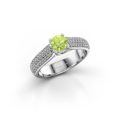 Picture of Engagement ring Leoness 585 white gold peridot 5 mm