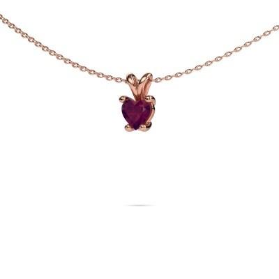 Foto van Ketting Sam Heart 375 rosé goud rhodoliet 5 mm