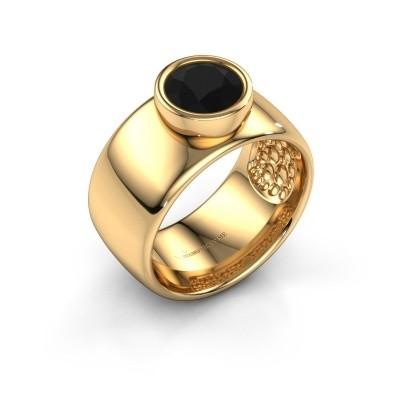 Ring Klarinda 585 gold black diamond 1.56 crt