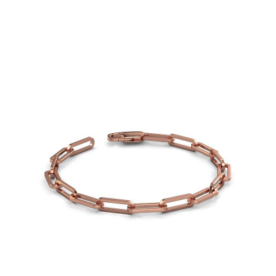 Photo de Bracelet CFE sqr 5.0 585 or rose ±5 mm