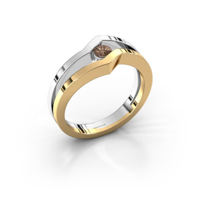 Ring Elize 585 gold brown diamond 0.15 crt