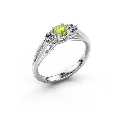 Picture of Engagement ring Amie RND 925 silver peridot 4.2 mm