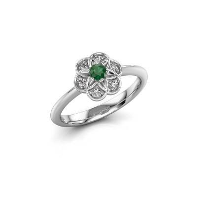 Verlobungsring Uma 925 Silber Smaragd 3 mm