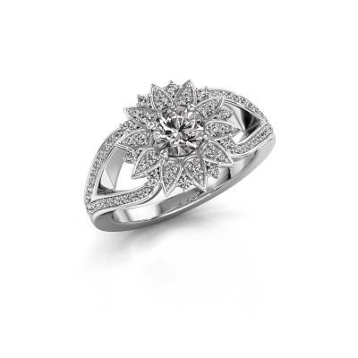 Foto van Aanzoeksring Chasidy 2 950 platina diamant 0.50 crt