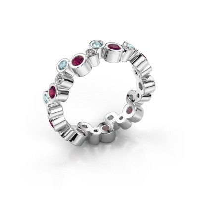 Picture of Ring Tessa 925 silver rhodolite 2.5 mm