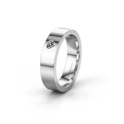 Trouwring WH0101L15BPHRT 375 witgoud diamant ±5x2 mm