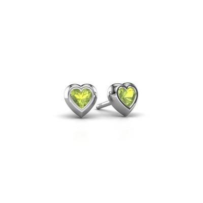 Picture of Stud earrings Charlotte 925 silver peridot 4 mm