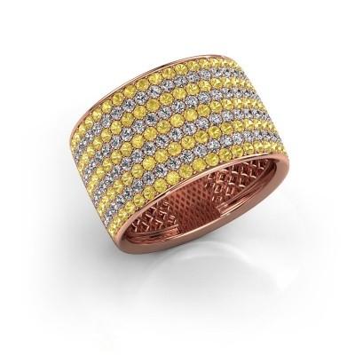 Foto van Ring Macy 375 rosé goud gele saffier 1.4 mm