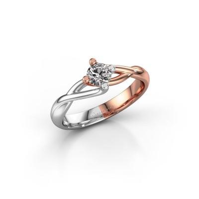 Foto van Verlovingsring Paulien 585 rosé goud diamant 0.30 crt