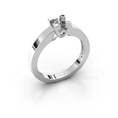 Foto van Verlovingsring Nina 1 585 witgoud lab-grown diamant 0.20 crt
