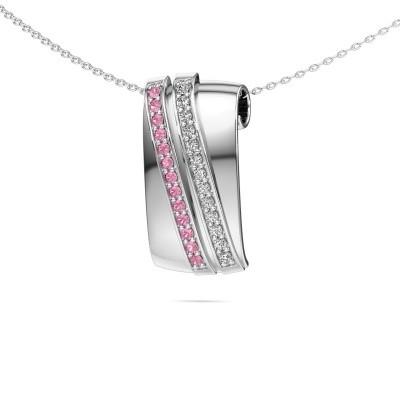 Foto van Hanger Sithri 925 zilver roze saffier 1.4 mm