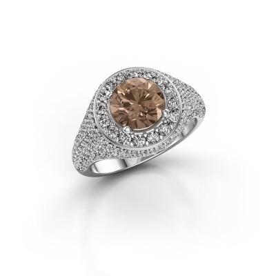 Foto van Ring Dayle 925 zilver bruine diamant 2.463 crt