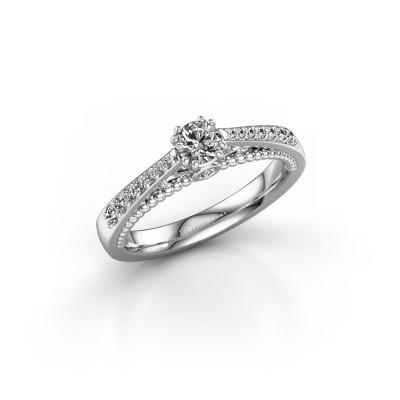 Foto van Verlovingsring Rozella 950 platina diamant 0.468 crt