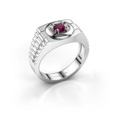 Foto van Rolex stijl ring Edward 950 platina rhodoliet 4.7 mm