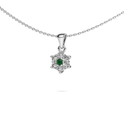 Picture of Necklace Chantal 925 silver emerald 2.4 mm