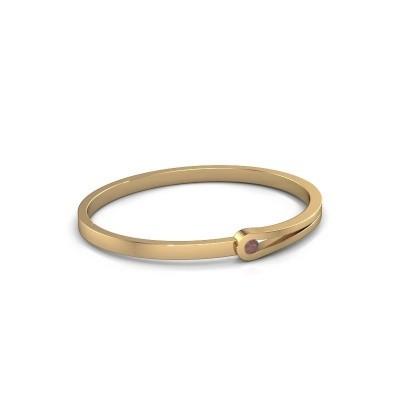 Bangle Kiki 585 gold garnet 4 mm