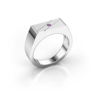 Men's ring Dree 3 585 white gold amethyst 2 mm