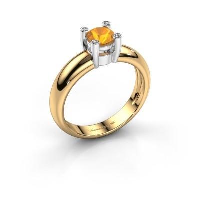 Ring Fleur 585 goud citrien 4.7 mm