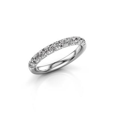 Vorsteckring Jackie Half 950 Platin Lab-grown Diamant 0.55 crt