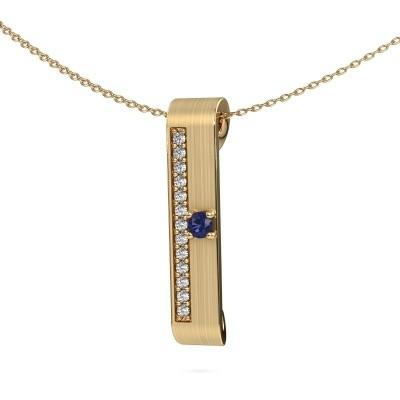Halsketting Vicki 375 goud saffier 3 mm