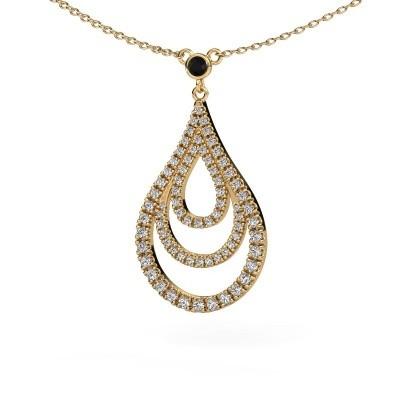 Hanger Delpha 375 goud zwarte diamant 0.490 crt