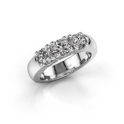Verlovingsring Rianne 3 925 zilver diamant 1.20 crt
