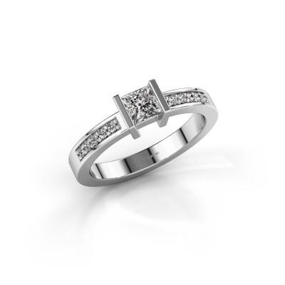 Foto van Aanzoeksring Jordan 585 witgoud diamant 0.40 crt