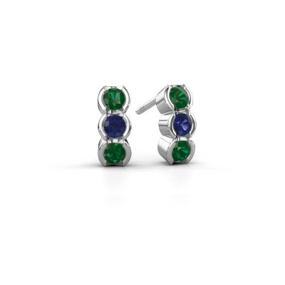 Picture of Earrings Lotte 585 white gold emerald 3 mm
