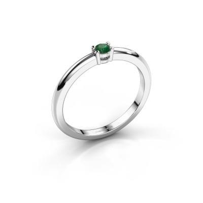 Foto van Verlovingsring Michelle 1 925 zilver smaragd 2.7 mm