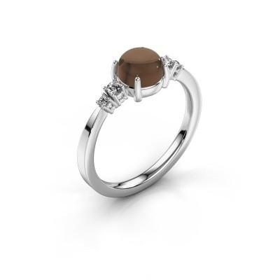 Ring Regine 950 platina rookkwarts 6 mm