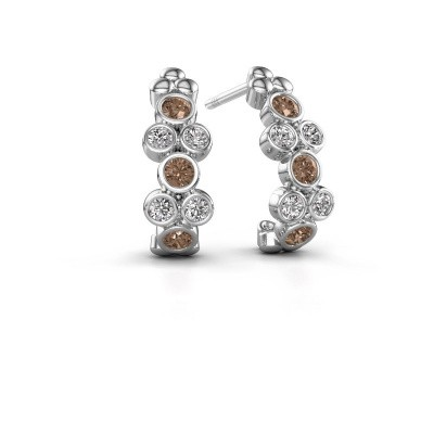 Oorbellen Kayleigh 585 witgoud bruine diamant 0.57 crt
