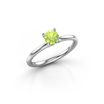 Picture of Engagement ring Crystal RND 1 925 silver peridot 5 mm