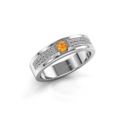 Bague Chanell 925 argent citrine 3 mm