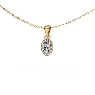 Hanger Seline ovl 585 goud diamant 0.59 crt