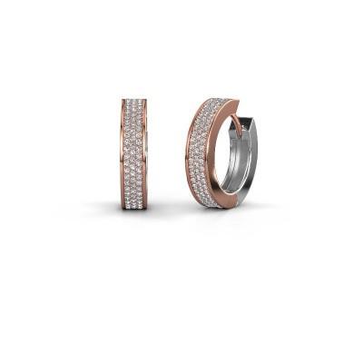 Creolen Renee 6 12 mm 585 rosé goud diamant 1.12 crt