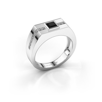 Herrenring Robertus 2 585 Weißgold Schwarz Diamant 0.672 crt