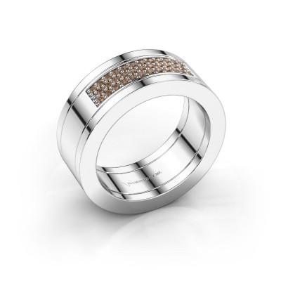Foto van Ring Marita 1 925 zilver bruine diamant 0.235 crt