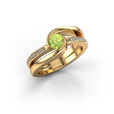 Foto van Ring Xenia 2 585 goud peridoot 5 mm