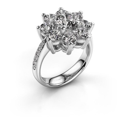 Picture of Engagement ring Camille 2 585 white gold diamond 0.15 crt