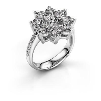 Photo de Bague de fiançailles Camille 2 585 or blanc diamant 0.15 crt