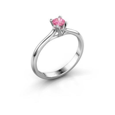 Picture of Engagement ring Isa 1 950 platinum pink sapphire 4 mm