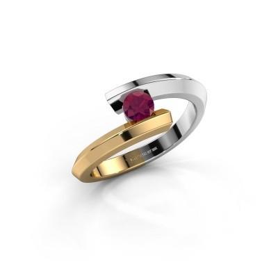 Ring Paulette 585 witgoud rhodoliet 3.4 mm
