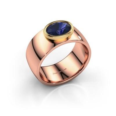 Ring Wilma 1 585 rosé goud saffier 8x6 mm