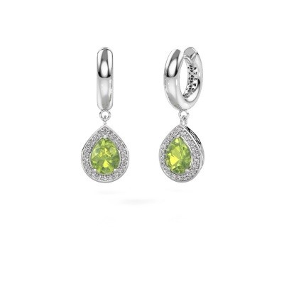 Picture of Drop earrings Barbar 1 585 white gold peridot 8x6 mm